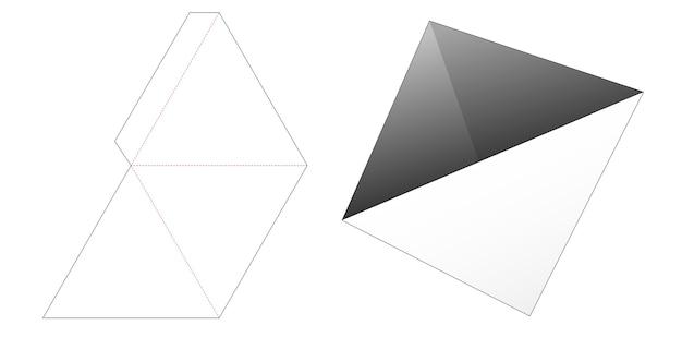 Modello fustellato per contenitore per snack a pilone triangolare