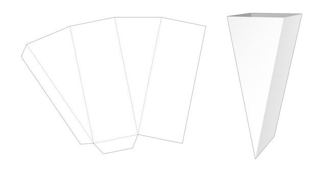 Sagoma fustellata ciotola di forma triangolare