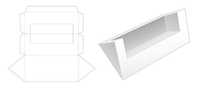 Dima fustellata contenitore di forma triangolare