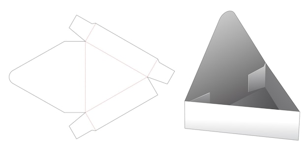 Modello fustellato di visualizzazione del prodotto di forma triangolare