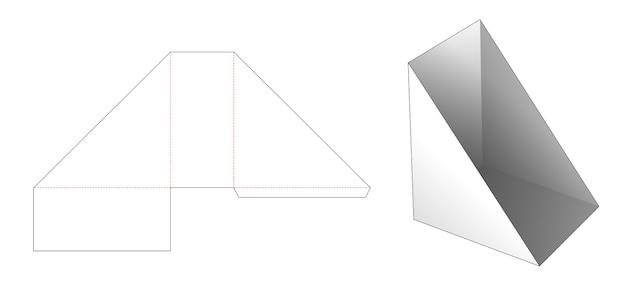 Modello fustellato per libro da scaffale a forma triangolare