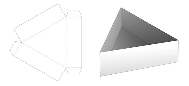 Modello fustellato vassoio di forma triangolare