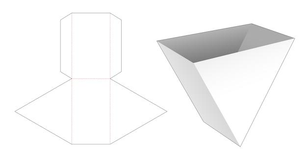 Modello fustellato contenitore triangolare per snack