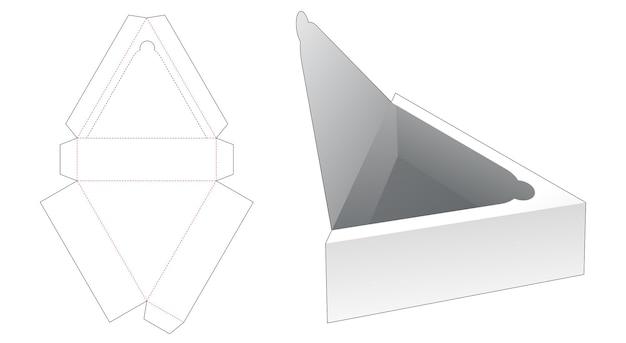 Vassoio triangolare con modello fustellato per chiusura lampo superiore