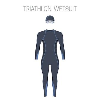 Muta da uomo a manica lunga da triathlon.