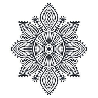 Modello geometrico boho di arte tribale