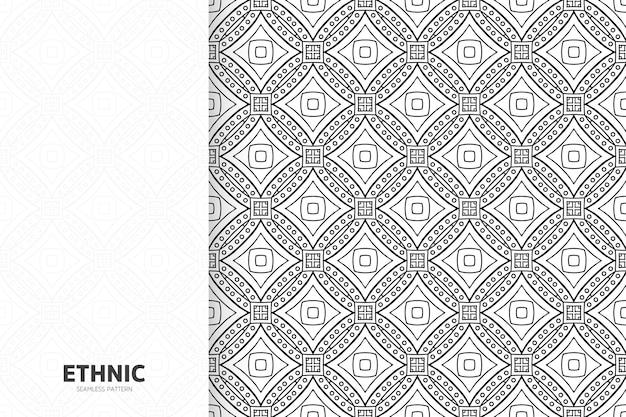 Mandala di design semless modello etnico tribale