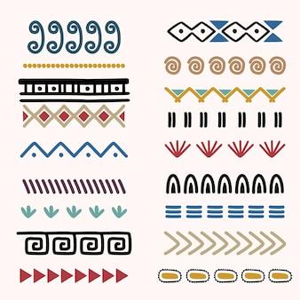 Collezioni indiane tribali con ornamenti rotondi.