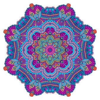 Design senza cuciture etnico indiano tribale. modello di mandala colorato festivo