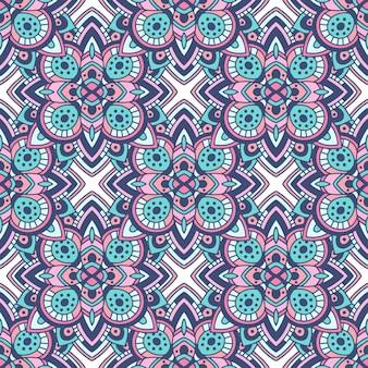 Modello geometrico colorato senza cuciture tribale. trama etnica ornamento tradizionale.