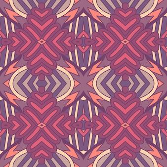 Modello senza cuciture etnico geometrico floreale astratto d'annata tribale ornamentale