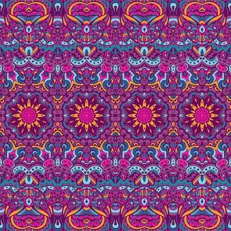 Tribale vintage astratto floreale geometrico etnico senza cuciture ornamentale