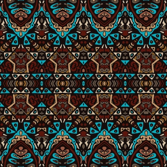 Ornamentale senza cuciture etnico geometrico astratto dell'annata tribale. disegno tessile ricamo a strisce asiatico