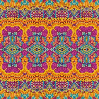 Tribale vintage astratto vettore geometrico etnico senza cuciture ornamento