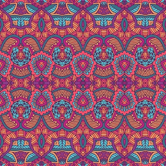 Tribale vintage astratto vettore geometrico etnico senza cuciture ornamentale