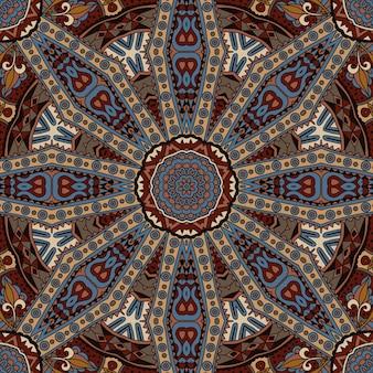 Disegno ornamentale tribale vintage etnico senza cuciture