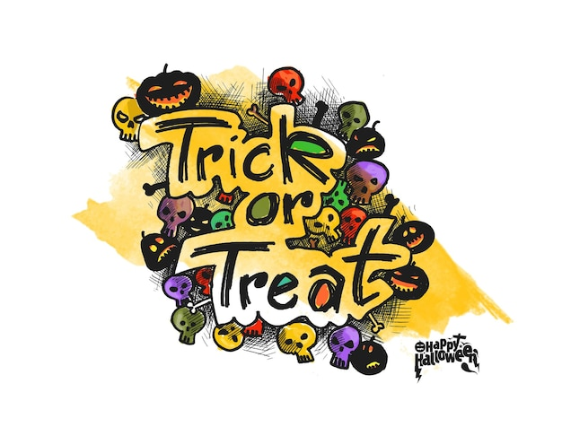 Dolcetto o scherzetto testo per halloween poster design.
