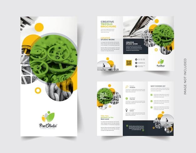 Brochure ripiegabile con cricle