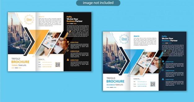 Modello di progettazione a tre ante per volantino di marketing di sfondo