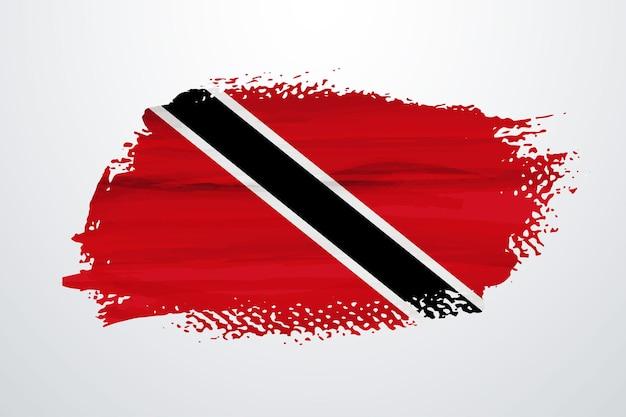 Trinidad e tobago pennello vernice bandiera