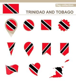 Collezione di bandiere di trinidad e tobago, 12 versioni