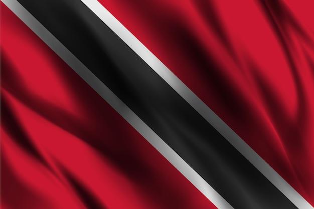 Trinidad e tobago bandiera nazionale sventolando sfondo di seta