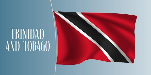 Trinidad sventola bandiera illustrazione