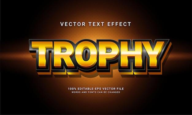Effetto stile testo modificabile in 3d del trofeo