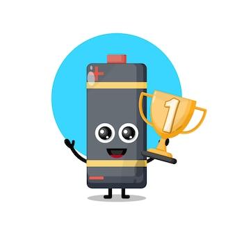 Trofeo batteria simpatico personaggio mascotte