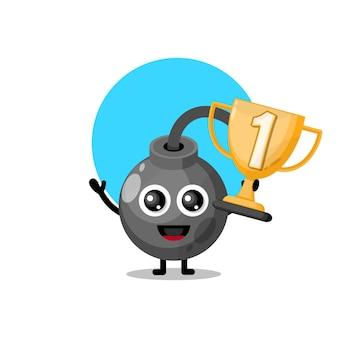 Bomba trofeo simpatico personaggio mascotte
