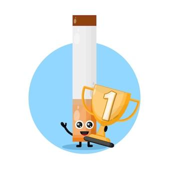 Logo del personaggio mascotte delle sigarette trofeo