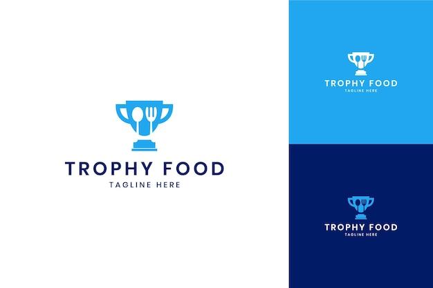 Trofeo cibo spazio negativo logo design