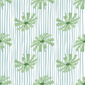 Modello senza cuciture del fogliame degli elementi di licuala della palma verde tropicale.