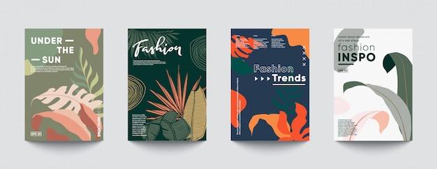 Modelli di copertina minimal tropic.