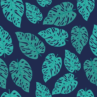 Sfondo tropicale con piante della giungla, decorazione con foglie tropicali