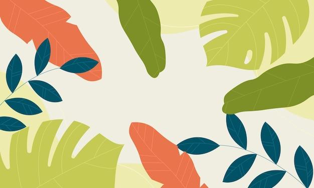 Sfondo tropicale con colori vintage. nuovo modello per il tuo libro di marca.