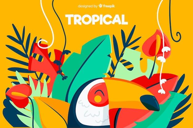Sfondo tropicale Vettore Premium