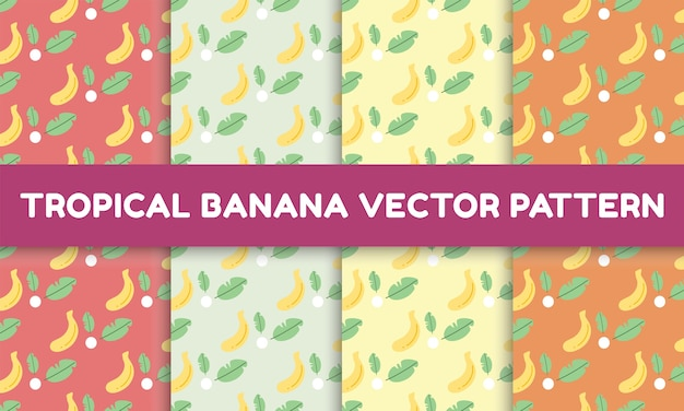 Modello di banana tropicale