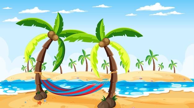 Scena del paesaggio della spiaggia tropicale durante il giorno