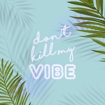 Banner per feste in spiaggia tropicale con scritte al neon. manifesto dell'insegna di discoteca calda estate con foglie di palma. insegna luminosa del manifesto della discoteca. illustrazione vettoriale
