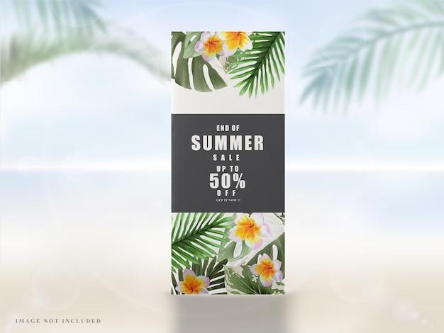 Banner estivo floreale tropicale