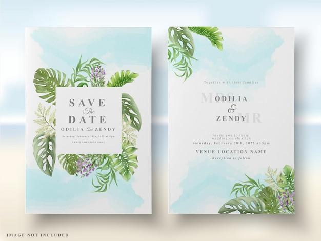 Carta di matrimonio floreale tropicale