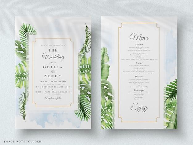 Invito a nozze floreale tropicale