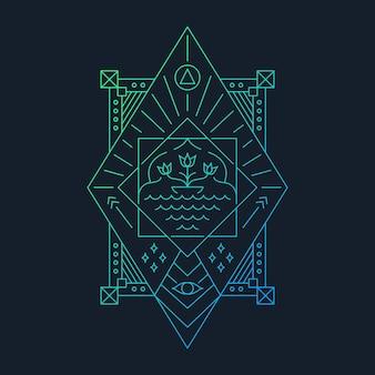 Astratto geometrico tropicale
