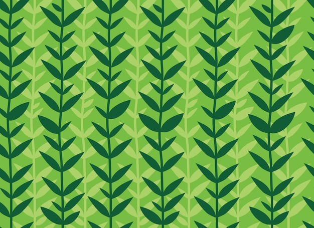 Modello senza cuciture di foglie verdi tropicali