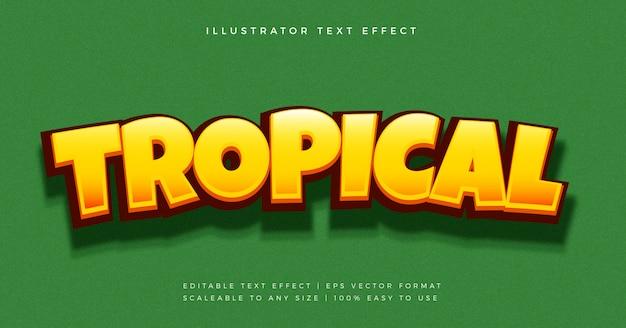 Effetto carattere stile testo divertente giungla tropicale