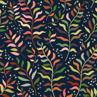 Illustrazione di vettore del modello floreale senza cuciture della giungla tropicale