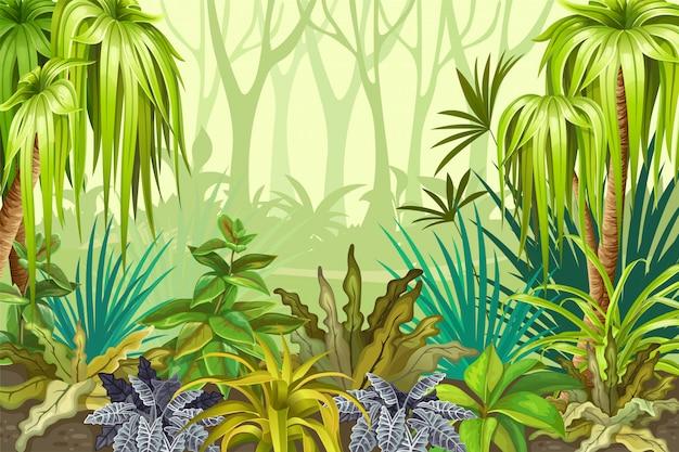 Illustrazione di paesaggio tropicale