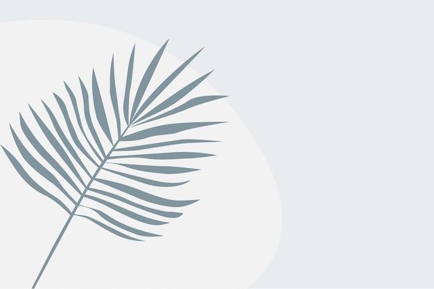 Fondo tropicale del modello della pianta della foglia. illustrazione colorata in blu