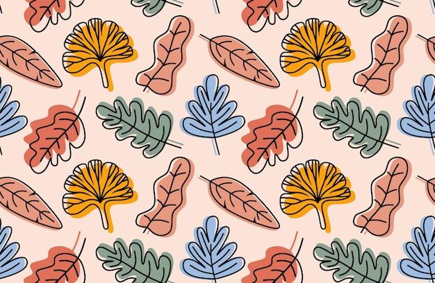 Modello di foglie tropicali.